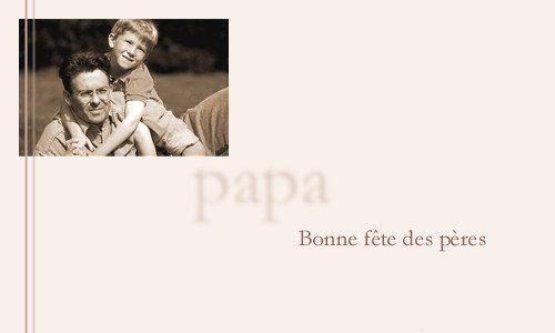 Carte bonne f te mon papa - Bonne fete mon papa ...