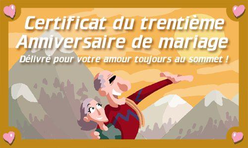 Carte 30 Ans De Mariage Cybercartes Com