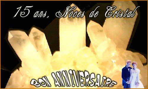 15 ans cristal - Cybercarte Anniversaire De Mariage