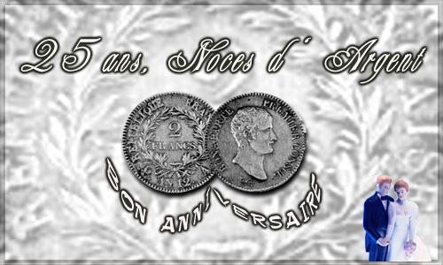carte 25 ans - argent