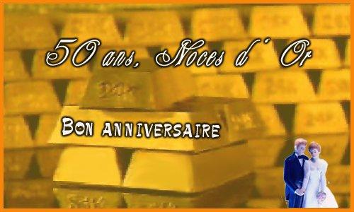 50 ans or - Cybercarte Anniversaire De Mariage