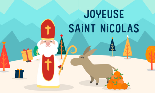 Carte saint nicolas mickey