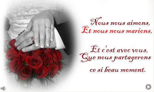 Bien-aimé Mariage Blog: carte virtuelle invitation mariage YR63