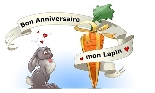 Carte Bon Anniversaire Mon Lapin Cybercartes Com