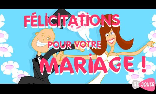carte f u00e9licitations pour votre mariage