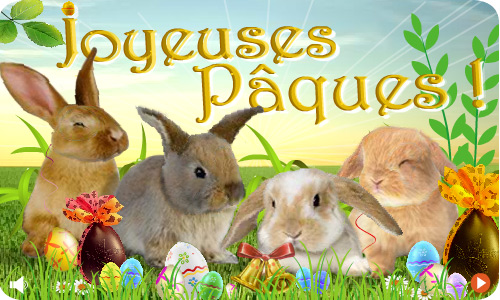 Carte Les lapins de Pâques - CyberCartes.com