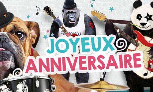 Carte Des Animaux Et Un Concert Pour Un Anniversaire Dejante