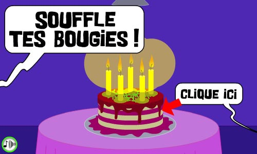 Carte Souffle Ta Bougie Cybercartes Com