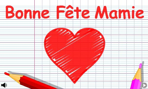 Carte Bonne Fête Mamie Cybercartescom