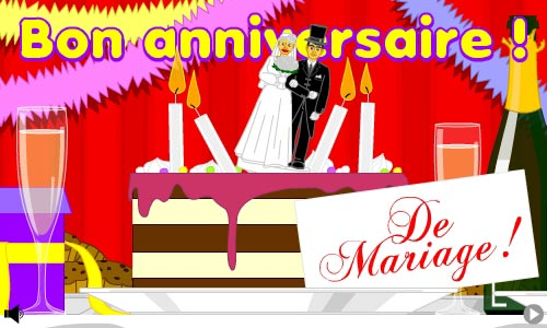 cybercarte anniversaire de mariage 1 an gosupsneek. Black Bedroom Furniture Sets. Home Design Ideas