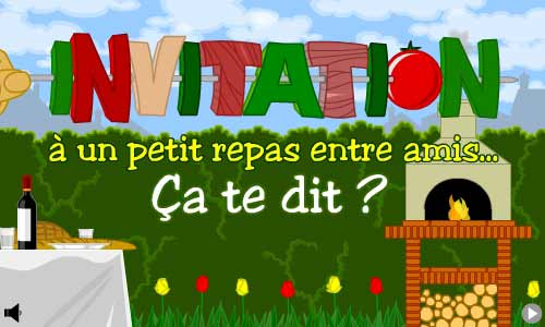 Carte invitation repas entre amis for Diner simple entre amis