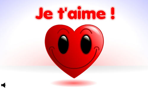 Exceptionnel Carte Smiley - Je t'aime - CyberCartes.com XW89