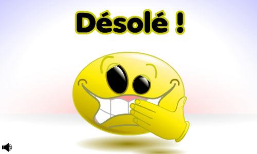 """Résultat de recherche d'images pour """"images petit smiley excuse en français"""""""