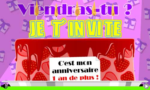 cartes invitation anniversaire gratuites. Black Bedroom Furniture Sets. Home Design Ideas