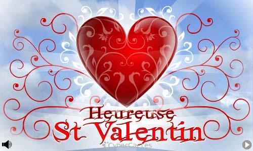 Carte heureuse saint valentin - Image st valentin gratuite ...