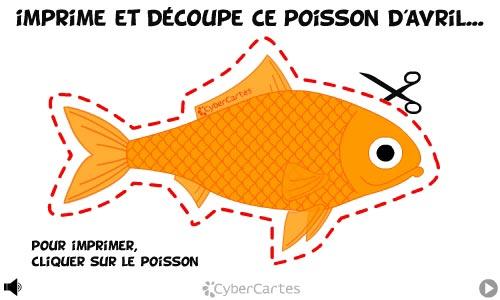 Carte imprimez votre poisson - Poisson d avril images gratuites ...