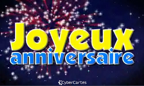 Carte D Anniversaire Animee Feu D Artifice Coleteremelly Official