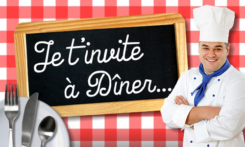 Cartes invitation diner virtuelles gratuites for Menu souper entre amis