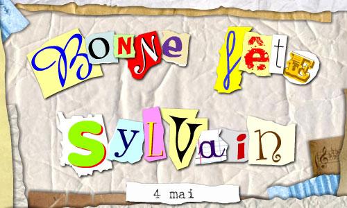 Carte Bonne fête Sylvain - CyberCartes.com