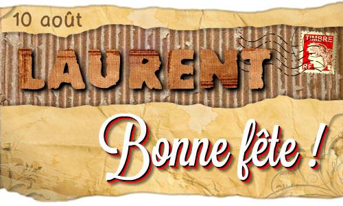 Carte Bonne Fete Laurent.Carte Bonne Fete Laurent Cybercartes Com