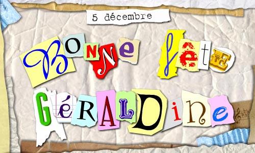 Carte g raldine 5 d cembre - Prenom geraldine ...