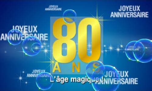 Carte 80 Ans L Age Magique Cybercartes Com