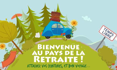 Gut gemocht Carte Bienvenue au pays de la retraite ! - CyberCartes.com BD43