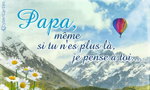 Carte Papa Je Pense à Toi Cybercartescom