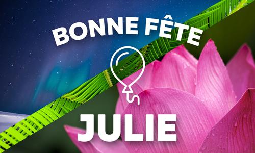 Carte Bonne Fete Julie Gratuite.Carte Julie 8 Avril Cybercartes Com