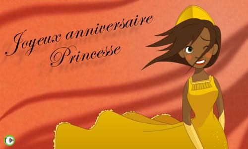 Carte Anniversaire De Princesse Cybercartes Com