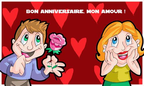 Carte Bon Anniversaire Mon Amour Cybercartescom