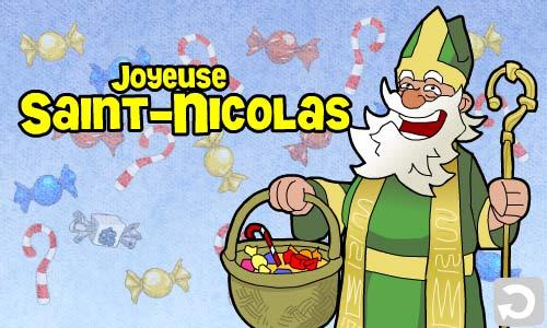 Carte saint nicolas vert - Image de saint nicolas a imprimer ...