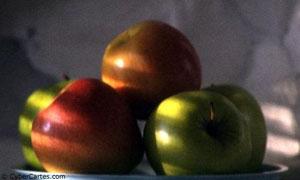 Plat de pommes prêt à être croqué !