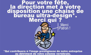 Merci patron: chaise