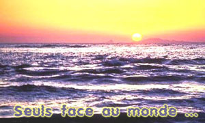 Crépuscule sur la mer