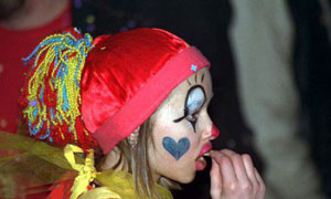 Fillette au carnaval