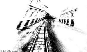 Rail au fusain