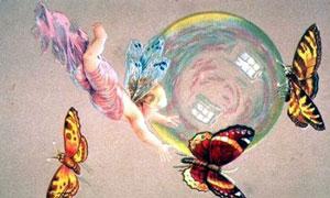 Ange et papillon