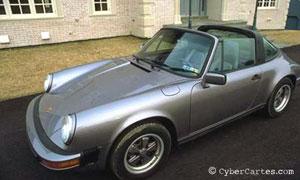 Porsche décapotée