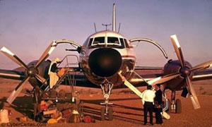 Avion dans le désert