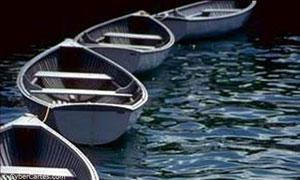 Enfilade de barques