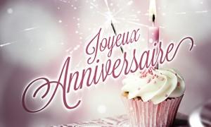 Un cupcake anniversaire