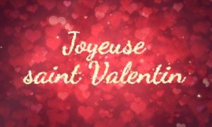 Chaque journée est un rêve, joyeuse saint Valentin