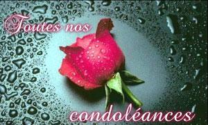 Condoléances ...