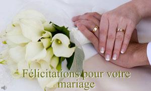 Félicitations pour votre mariage !