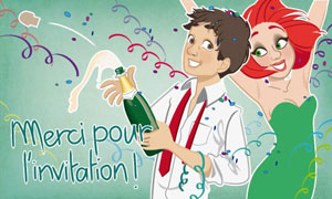 Merci - invitation Nouvel An