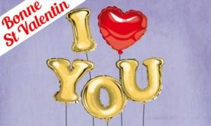 Message en ballons pour la saint Valentin