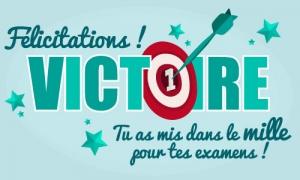 Félicitations pour tes examens !