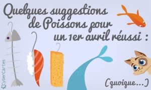 Quelques suggestions de poissons d'avril