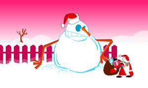 Bonhomme de neige vs Père Noël